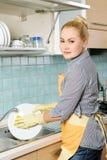 Piatti di lavaggio Fotografia Stock
