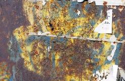 Piatti di metallo arrugginiti - fondo industriale grungy della costruzione Immagini Stock Libere da Diritti