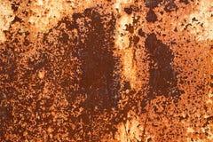 Piatti di metallo arrugginiti - fondo industriale grungy della costruzione Immagini Stock