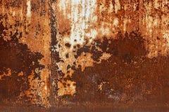 Piatti di metallo arrugginiti - fondo industriale grungy della costruzione Fotografia Stock Libera da Diritti