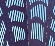 Piatti di metallo con i fori rettangolari Immagine Stock Libera da Diritti