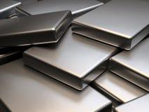 Piatti di metallo impilati della rappresentazione dei magneti 3D della terra rara del neodimio illustrazione di stock