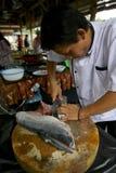 Piatti di pesce Fotografia Stock