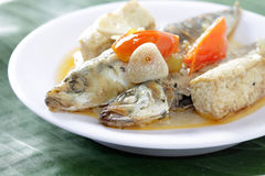 Piatti di pesce bolliti Fotografia Stock