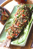 Piatti di pesci caldi Fotografia Stock