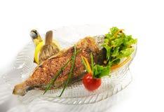 Piatti di pesci caldi - Dorado cotto Fotografie Stock