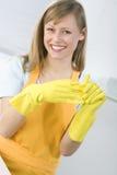 Piatti di pulizia della donna Fotografia Stock Libera da Diritti