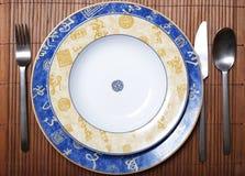 Piatti di stile cinese immagine stock