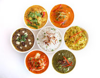 Piatti indiani fotografie stock