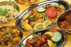Piatti indiani del curry Immagine Stock Libera da Diritti