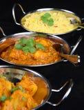 Piatti indiani del curry Fotografie Stock