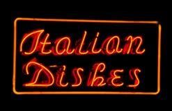 Piatti italiani Fotografia Stock Libera da Diritti