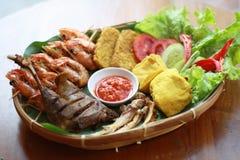 Piatti laterali indonesiani Fotografia Stock