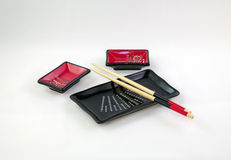 Piatti per i sushi Fotografia Stock Libera da Diritti