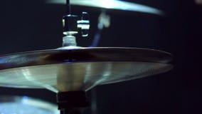 Piatti sull'insieme del tamburo, primo piano video d archivio