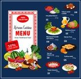 Piatti tradizionali di cucina coreana, vettore royalty illustrazione gratis