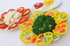 Piatti vegetali dell'insalata Immagini Stock