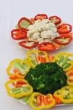 Piatti vegetali dell'insalata Fotografie Stock Libere da Diritti