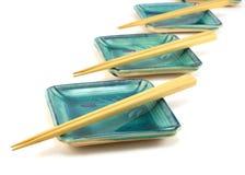 Piatti vuoti dei sushi. Fotografia Stock