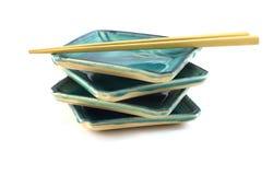 Piatti vuoti dei sushi. Fotografie Stock