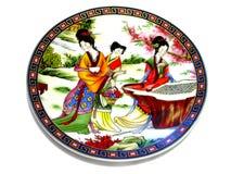 Piattino cinese della porcellana Fotografia Stock Libera da Diritti
