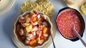 Piattino tradizionale delle coste del Messico fotografie stock