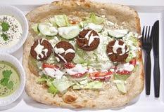 Piatto afgano del Falafel Fotografie Stock