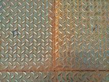 Piatto alto chiuso dei diamanti della lamina di metallo Immagini Stock