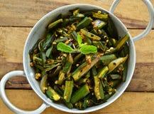 Piatto-Bhindi indiano Masala Immagini Stock Libere da Diritti