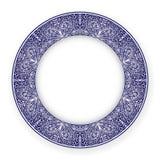 Piatto bianco con l'ornamento blu Immagini Stock Libere da Diritti