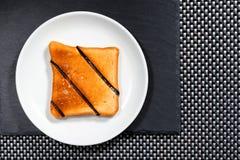 Piatto bianco di Grencan e un piatto di pietra Immagine Stock Libera da Diritti