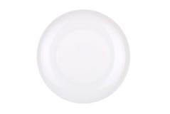 Piatto bianco isolato su bianco fotografia stock