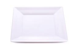 Piatto bianco su fondo bianco Immagini Stock
