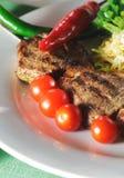 Piatto caldo della carne - Shashlik Immagine Stock Libera da Diritti
