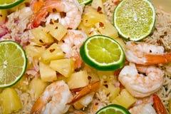 Piatto caraibico del riso e del gambero Fotografia Stock Libera da Diritti