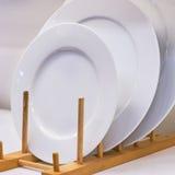 Piatto ceramico bianco Fotografia Stock Libera da Diritti