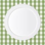 Piatto ceramico di bianco del cerchio Immagine Stock Libera da Diritti