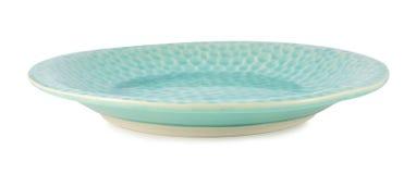 Piatto ceramico isolato su un fondo bianco Immagine Stock
