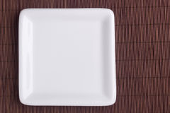 Piatto ceramico quadrato Fotografia Stock