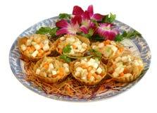 Piatto cinese Fotografie Stock