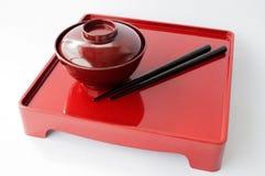 Piatto cinese e bastoncini Immagini Stock Libere da Diritti