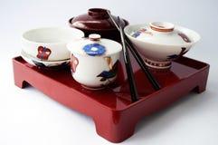 Piatto cinese e bastoncini Fotografia Stock Libera da Diritti