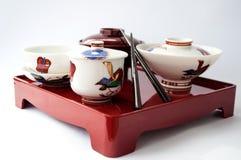 Piatto cinese e bastoncini Fotografie Stock Libere da Diritti