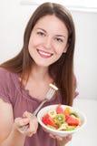 Piatto Colourful della frutta Fotografia Stock
