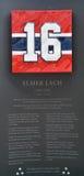 Piatto commemorativo 16 di Elmer Lach Immagine Stock Libera da Diritti