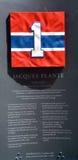 Piatto commemorativo 1 di Jacques Omer Plante Fotografia Stock