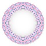 Piatto con gli archi su un fondo rosa Immagini Stock Libere da Diritti