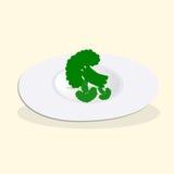 Piatto con i broccoli cucinati per il menu della disintossicazione Fotografia Stock Libera da Diritti