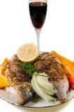 Piatto con i pesci fritti Fotografia Stock Libera da Diritti
