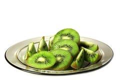 Piatto con il kiwi. Fotografie Stock Libere da Diritti